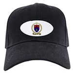 BROCHU Family Crest Black Cap