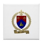BROCHU Family Crest Tile Coaster