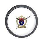 BROCHU Family Crest Wall Clock