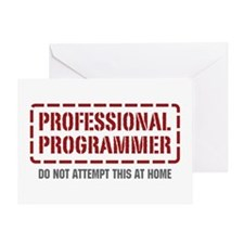 Professional Programmer Greeting Card