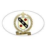 BROSSARD Family Crest Oval Sticker