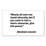 Abraham Lincoln Power Quote Rectangle Sticker 10