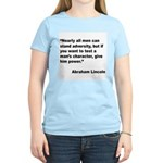 Abraham Lincoln Power Quote (Front) Women's Light