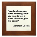 Abraham Lincoln Power Quote Framed Tile
