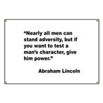 Abraham Lincoln Power Quote Banner