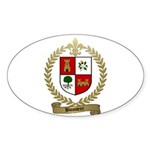 BUSSIERE Family Crest Oval Sticker