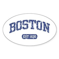 Boston EST 1630 Oval Decal