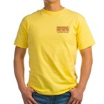 Professional Pole Vaulter Yellow T-Shirt