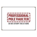 Professional Pole Vaulter Banner