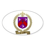 CAISSIE Family Crest Oval Sticker