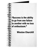 Churchill Success Quote Journal