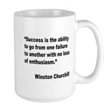 Churchill Success Quote Coffee Mug