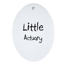Little Actuary Oval Ornament