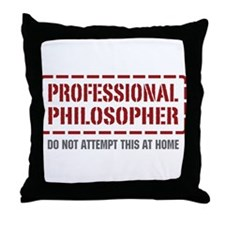 Professional Philosopher Throw Pillow