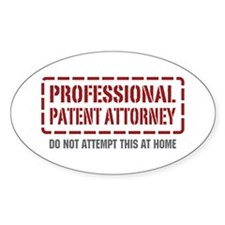 Professional Patent Attorney Oval Decal