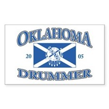 Oklahoma Drummer Rectangle Decal
