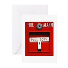 FIRE ALARM Greeting Cards (Pk of 20)