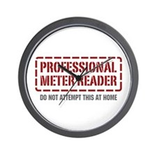 Professional Meter Reader Wall Clock