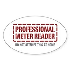 Professional Meter Reader Oval Decal