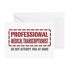 Professional Medical Transcriptionist Greeting Car
