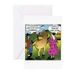 Cream & Llama Poop on Strawberries Greeting Cards