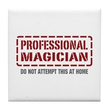 Professional Magician Tile Coaster