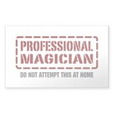 Professional Magician Rectangle Decal