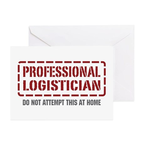 Professional Logistician Greeting Cards (Pk of 20)