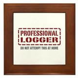 Professional Logger Framed Tile