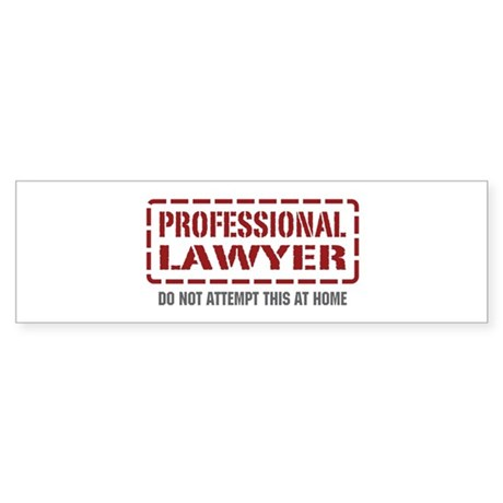 Professional Lawyer Bumper Sticker
