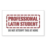 Professional Latin Student Rectangle Decal