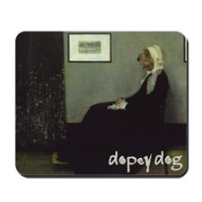 PBGV WHISTLER'S MOTHER Mousepad