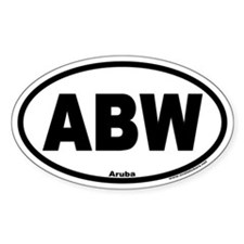 Aruba ABW Euro Oval Decal