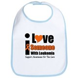 I Love Someone w/Leukemia Bib