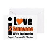 I Love Someone w/Leukemia Greeting Cards (Pk of 10