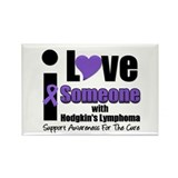 I Love Someone w/Lymphoma Rectangle Magnet