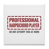 Professional Harpsichord Player Tile Coaster