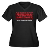 Professional Harp Player Women's Plus Size V-Neck