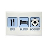 EAT SLEEP SOCCER (blue) Rectangle Magnet (10 pack)
