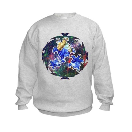 Earth Turtles Kids Sweatshirt