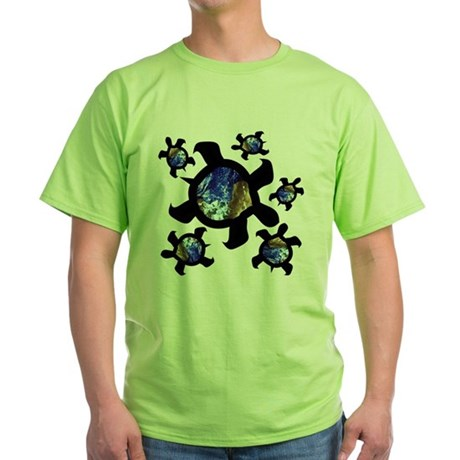 Earthly Turtles Green T-Shirt