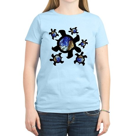 Earthly Turtles Women's Light T-Shirt