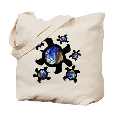 Earthly Turtles Tote Bag