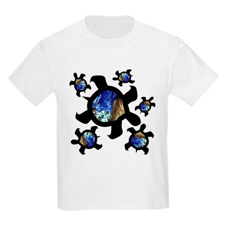 Earthly Turtles Kids Light T-Shirt