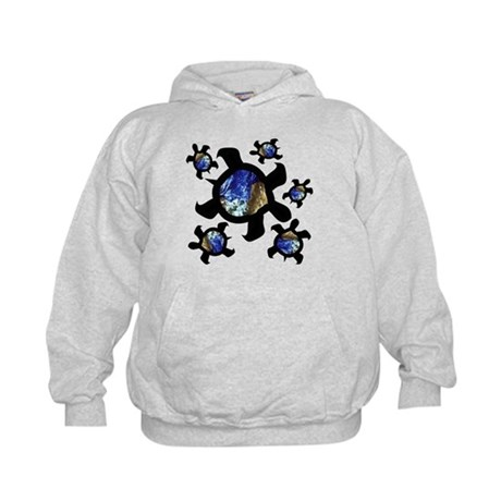 Earthly Turtles Kids Hoodie