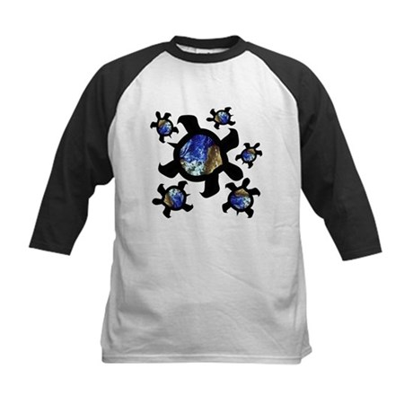 Earthly Turtles Kids Baseball Jersey