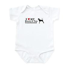 BLACK TAN COONHOUND Infant Bodysuit