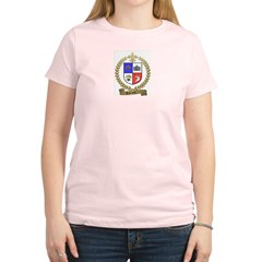 CARRIERE Family Crest Women's Pink T-Shirt