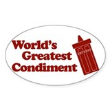 World's Greatest Condiment Oval Decal