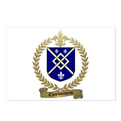 CHARBONNEAU Family Crest Postcards (Package of 8)